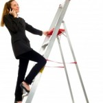 Lady on Ladder