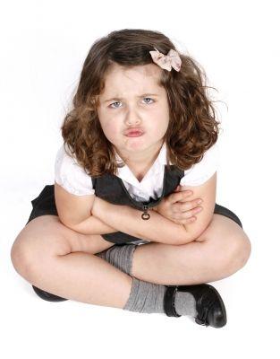 Grumpy Child who doesn't wanna do it