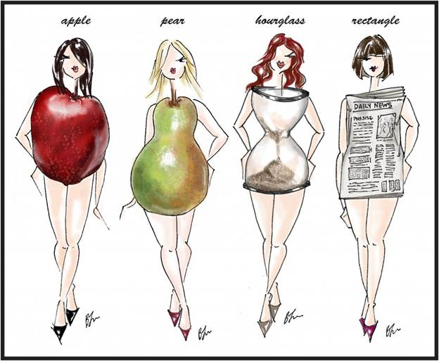 Women's body shapes