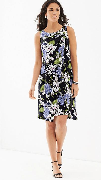 Beautiful layered tank dress from J. Jill