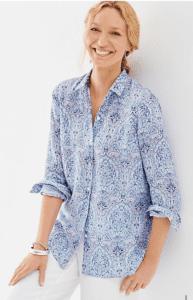 Beautiful linen shirt from J. Jill